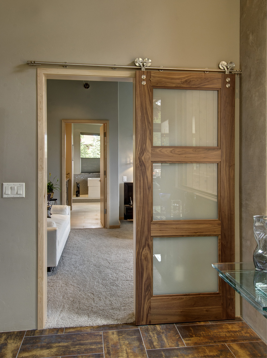Contemporary Barn Door Sliding