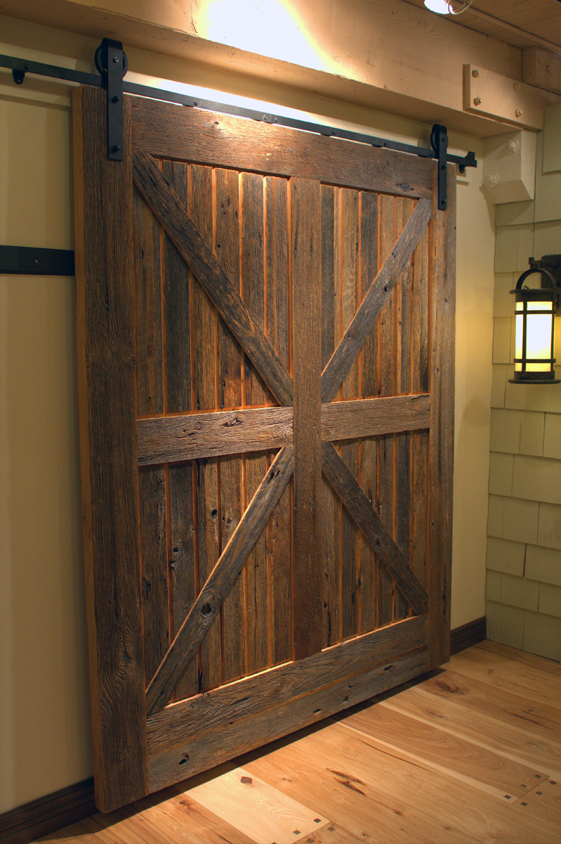 Decorating rustic sliding barn door hardware photographs : Sliding Barn Doors Don't Have to be Rustic! - Sun Mountain Door